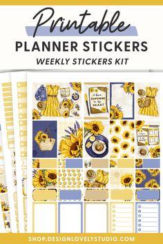 Summer Planner, Cute Planner, Weekly Planner Printable, Printable Planner Stickers, Happy Planner, Planner Layout, Planner Decorating, Erin Condren, Pdf