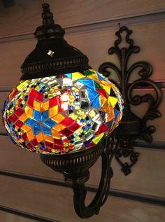 Assorted Color Mosaic Glass Wall Sconce - ShopTurkey.com