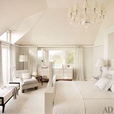 Super Chic All White Master Bedroom