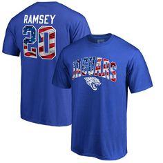 Jalen Ramsey Jacksonville Jaguars NFL Pro Line by Fanatics Branded Banner Wave Name & Number T-Shirt - Royal