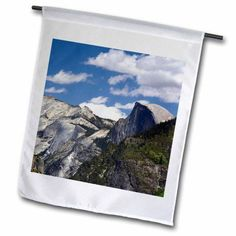 3dRose Half Dome from Inspiration Point, Yosemite NP, California, USA, Garden Flag, 12 by 18-Inch