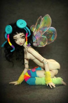 OOAK Forgotten Hearts Porcelain BJD-Borrower Pixie Gabee