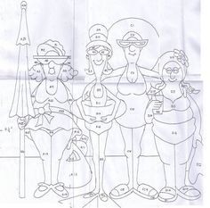 T t quatre dames en costumes - Malen - Hand Embroidery Patterns, Applique Patterns, Applique Quilts, Embroidery Stitches, Quilt Patterns, Machine Embroidery, Embroidery Designs, Patchwork Quilt, Red Brolly