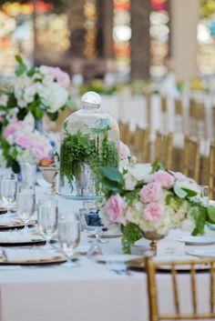 Bell Jar Wedding Centerpiece
