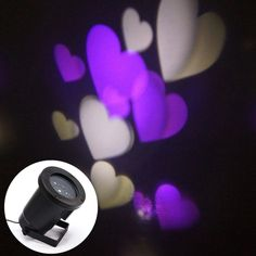 [$18.13] CE Certificated Creative LED Projecting Lamp Romantic Purple and White Love Pattern Indoor Outdoor Lawn Yard Garden Decorative Lighting Landscape Lamp, , Plug Corresponds to Your Country