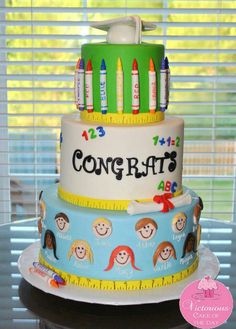 Cake to celebrate the graduate's special day. If you are looking for the best graduation cake ideas, you've come to the right place to find some! Cupcakes, Cupcake Cakes, Tire Cake, Teacher Cakes, School Cake, Kindergarten Graduation, Creative Cakes, Unique Cakes, Sweet Cakes