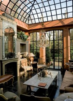 Luck D' Hulst, belgian arquitect that designs exclusive orangeries greehouses and winter gardens worldwide.