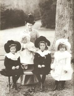 The Grand Duchesses Tatiana, Anastasia, Olga and Maria Nicholaevna Romanov