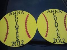 My husband and I make Softball and Baseball Yard Signs for our little town. We gave these as gifts to my daughters 10U Softball Team