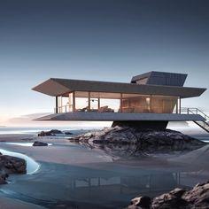 The Beach House by Ioan Ralea-Toma •#Arc_Only