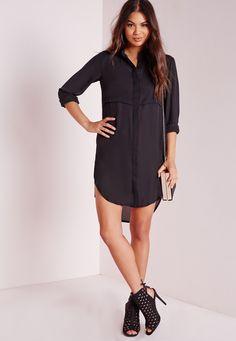Missguided - Oversized Shirt Dress Black