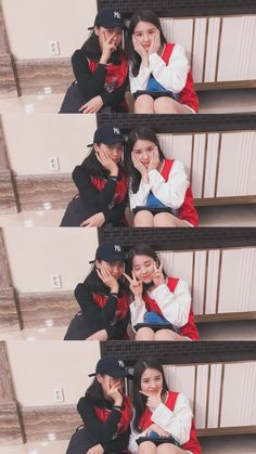 Loona Heejin and JYP trainee Shin Ryujin Friend Poses Photography, Dreamy Photography, Portrait Photography Poses, Photography Poses Women, Bff Poses, Sister Poses, Best Friends Shoot, Korean Best Friends, Cool Girl Pictures