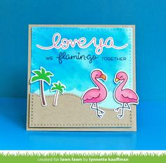 the Lawn Fawn blog: Lawn Fawn Intro: Flamingo Together, Cross-Stitched Stackables, New Ink!