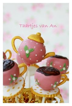 Teapot and Tea cup Cake Pops!!