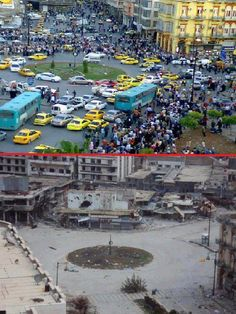 Civil War in Syria all this misery because two Muslim Sects cannot agree or live together. Tell me again how the Muslim religion is so wonderful? Syria Before And After, Save Syria, Muslim Religion, Syrian Civil War, Aleppo, Damascus, Abandoned Places, Middle East, Iran