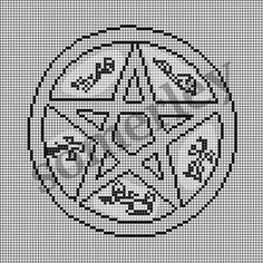 CROSS STITCH PATTERN Supernatural Devil's Trap by somerley on Etsy