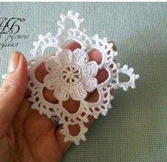 One miniature crochet square doily 4 cm, dollhouse min Filet Crochet, Beau Crochet, Crochet Wool, Thread Crochet, Love Crochet, Crochet Motif, Beautiful Crochet, Irish Crochet, Crochet Doilies