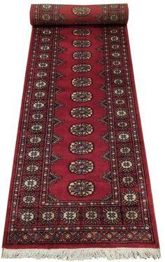 Red Handmade 12' Runner Popular Bokhara Handmade Soft silky wool Hallway Runner #TraditionalPersianOriental