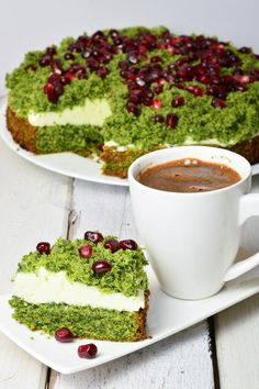 ciasto leśny mech Moss Cake, Piece Of Cakes, Avocado Toast, Catering, Delish, Pudding, Sweets, Cooking, Breakfast