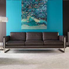American Leather Savino Sofa with Metal Leg Modern Leather Sofa, Leather Sectional, Leather Furniture, American Leather Sleeper Sofa, Furniture Styles, Furniture Design, Sofa Manufacturers, Sectional Sleeper Sofa, Sofa Sale