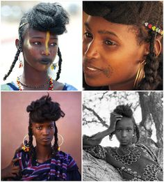 Braided hair of the Wodaabe (subgroup of Fulani — Nigeria, Guinea, Cameroon, Niger)