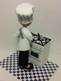 Regalo para un cocinero, la cocinita tambien está realizada en foami