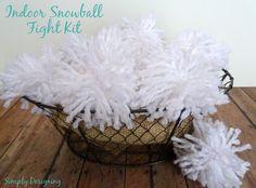 Indoor Snowball Fight Kit