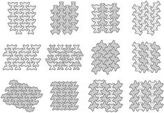 Periodic tessellations with some polyflaptiles | by Daniel Wyllie