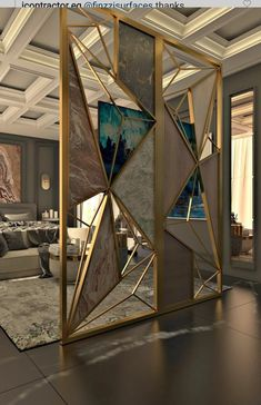 Room Design Bedroom, Bedroom Furniture Design, Home Room Design, Modern Luxury Bedroom, Bathroom Design Luxury, Luxurious Bedrooms, Living Room Partition Design, Room Partition Designs, Door Design Interior