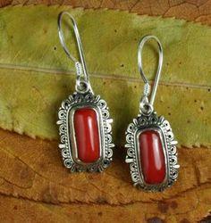 Dharmashop.com - Tibetan Coral Earrings, $56.00 (http://www.dharmashop.com/products/Tibetan-Coral-Earrings.html)