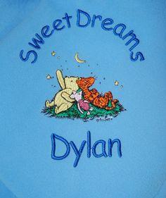 Pooh Eeyore Tigger Piglet Baby Blanket by Dana Marie Creations, $17.00