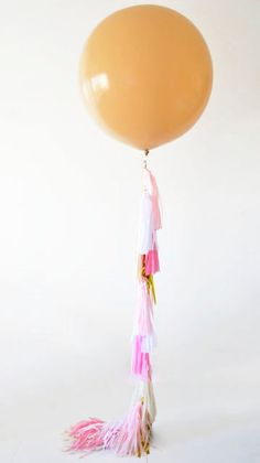 36' giant blush balloon with tassels