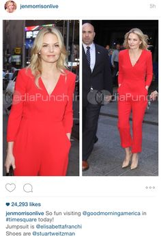 Jennifer Morrison at ABC's Good Morning America in New York City on May 8, 2015