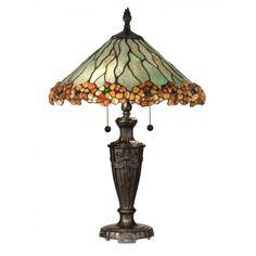 Dale Tiffany Lamps Jeweled Edge Tiffany 2 Light Table Lamp - TT10758