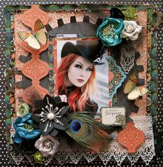 My Glitter Coated Life: Scraps Of Darkness~Hello Gorgeous!! Graphic 45 papers, and the colors, I just knew I just had to do a Steam Punk layout