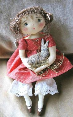 This artist's doll's have so much expression, with so little detail. Pretty Dolls, Beautiful Dolls, Doll Clothes Patterns, Doll Patterns, Fabric Dolls, Paper Dolls, Doll Toys, Baby Dolls, Doll Maker