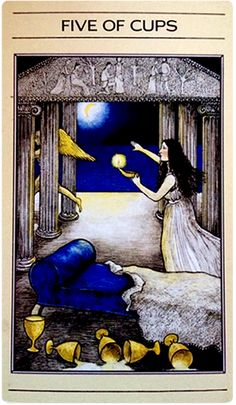 Mythic Tarot -- Five of Cups