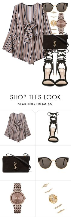 """• 119"" by dianasf ❤ liked on Polyvore featuring WithChic, ALDO, Yves Saint Laurent, RetroSuperFuture, Michael Kors and Forever 21"