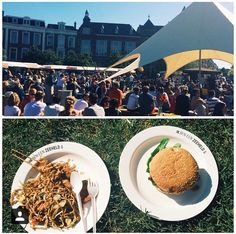 Once a year we enjoy the Proef De Wijk foodfestival at Prins Hendrikplein in #DenHaag! All local restaurants are represented and the food is gooood! Btw, how cool are these plates.