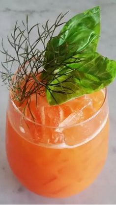 A carrot juice cocktail recipe with gin an aperol