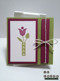 Stampin' Up!, Bright Blossoms, Bakers Twine, 3 x 3