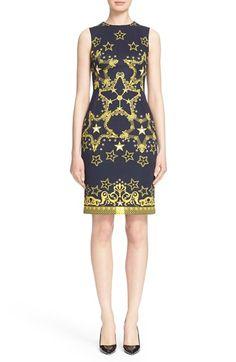 Versace Collection Star Print Neoprene Sheath Dress $825.00  #ShopSale #classic…