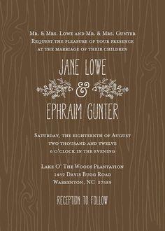 Rustic Wood Wedding Invitation DIY Digital Printable. $30.00, via Etsy.