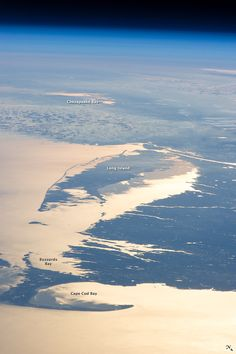 Looking out at the Earth's surface from the International Space Station (ISS), astronauts frequently observe sunglint highlighting both ocean and inland water surfaces.