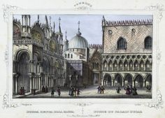 Venezia, Porta detta della Carta (Palazzo Ducale) (National Library of Poland - 1847, lithography)
