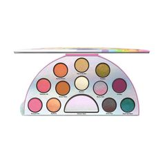 Shimmer Eyeshadow Palette: Life's a Festival Pearly Eyeshadow Palette... (€34) ❤ liked on Polyvore featuring beauty products, makeup, eye makeup, eyeshadow, palette eyeshadow, too faced cosmetics and creamy eyeshadow