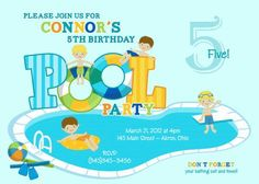 Party on Pool Party Swimming Photo
