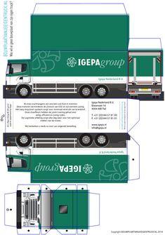 Paper Truck and Trailer   Scania snoep doosje   bouwplaatvanjeeigentruck.nl