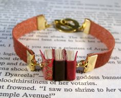 Miniature Book Bracelet Stack of 3 Mini Books and by JanDaJewelry, $45.00