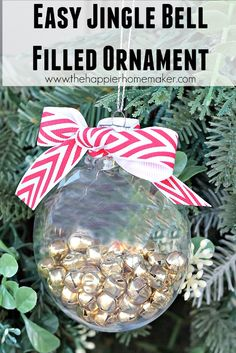 This DIY jingle bell ornament is easy enough for children to make but cute enough for gifts!
